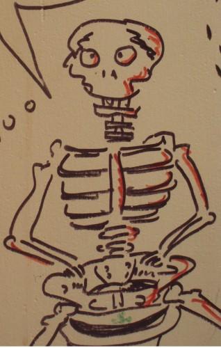 Squelette, Bar, Toilettes, Vanité