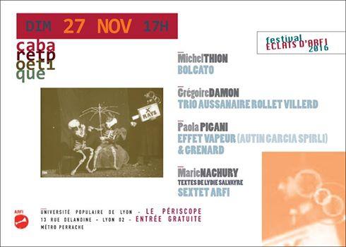 arfi,festival éclats,poésie & jazz,thio,pigani,nachury,périscope,cabaret poétique